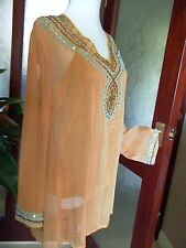 Amarje (by INDIGO MOON) Beaded Tunic/Kaftan & Camisole/Vest Set M *NEW*