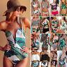 Femmes Tropical One Piece Maillot de Bain Monokini Bikini Rembourré Baignade