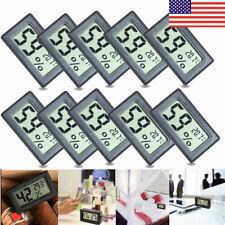 100pcs Mini Digital Lcd Indoor Temperature Humidity Meter Thermometer Hygrometer