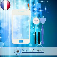 Vitre ecran tactile pour Samsung Galaxy Ace S5830 blanc + stickers + outils