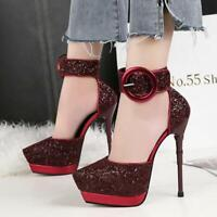 High Heels Shoes Party Wedding Women Pumps Heels Stiletto Dress Shoes 2019