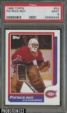 1986 Topps Hockey #53 Patrick Roy Montreal Canadiens RC Rookie PSA 9 MINT