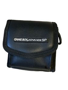 Game Boy Advance SP Black Leather Official Carry Switch N Carry Travel Case