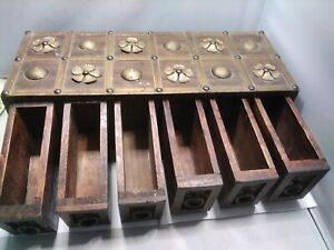 Unusual Set Of Wooden Drawers trinket box