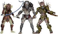 "Neca Series 16 7"" Predator Action Figures Ghost Stalker Spiked Tail Kenner UK"