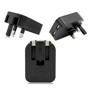 New Main 3 Pin UK Plug 2 AMP Dual 2 Port USB Adaptor Wall Charger Charging Phone