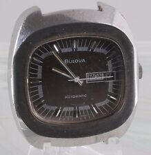 VINTAGE BULOVA SWISS AUTOMATIC WR SQUARE FACE NO BAND WATCH NEEDS BATTERY 0970B