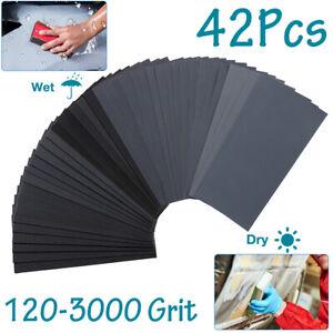 BAOSTC 1//4 sandpaper sheet,4-1//2*5-1//2 Assorted 60-80-120,50PACK