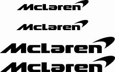 4x Mclaren Car/Vehicle Vinyl Stickers Decal Graphics Kit Any Colour