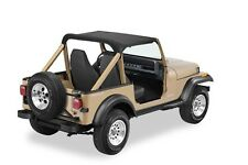 1976-1986 Jeep CJ7 Bikini Bimini Top Black Crush with Windshield Mount Channel