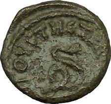LUCIUS VERUS 161AD Augusta Traiana Coiled Snake Serpent Roman Coin i40308