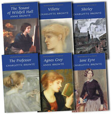 Charlotte Bronte Collection 6 Books Set Professor, Shirley, Jane Eyre, Villette