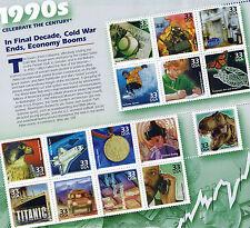 1990s PEREGRINE FALCON JOHN GLENN COLD WAR OVER ECOBOOM WWW NIPack Sht US Stamps