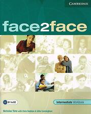 CAMBRIDGE Face2face Intermediate Workbook B1 to B2 @BRAND NEW BOOK@