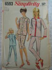 Vintage Simplicity Women's PAJAMAS Sewing Pattern 6593 Sz.18