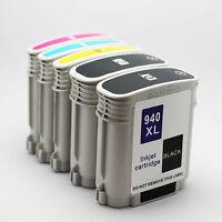 5 Pack HP 940XL 940 XL Ink Officejet Pro 8500A Premium 8500 Wireless
