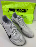 Nike 2019 Men's Zoom Rival Waffle White Black Running Shoes Size 14 AJ0852-100