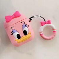Cute 3D Cartoon Pink Daisy Silicone Case Cover For Apple Airpods Charging Case