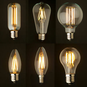 Bulb LED Vintage Lamps Industrial Filament Light  Bulbs Squirrel Cage Edison A+