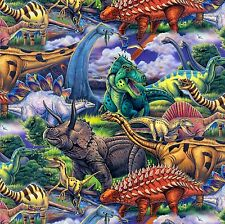 Fabric Dinosaurs Rule the Earth on Cotton by the 1/4 yard BIN