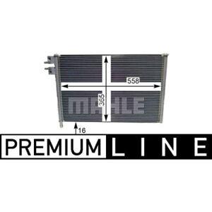 1 Condenseur, climatisation MAHLE AC 298 000P BEHR *** PREMIUM LINE ***