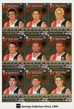 2006 AFL Teamcoach Trading Cards Silver Team set St. Kilda (10)