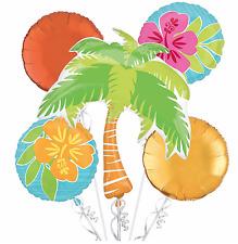 Tropical Foil Balloon Bouquet Luau Hawaiian Summer Beach Party Decoration 5 pcs
