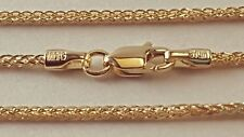 """14 k Solid Yellow Gold 1.75mm Square Wheat  Chain Necklace 16"""",18"""",20"""",22"""",24""""."""