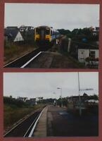 Lympstone village railway  station & train 150223  1996  photographs  dc76