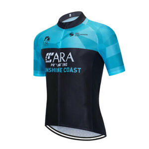 Mens Cycling Jersey Shirt Short Sleeve Bike Maillot Riding Tops Outdoor Clothing