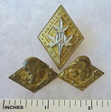 ORIGINAL WW2 Vintage CANADIAN WOMENS ARMY CORPS CAP & COLLAR BADGE INSIGNIA