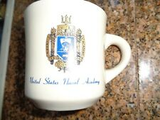 Vintage United States Naval Academy Coffee Cup Mug Usn Us Navy