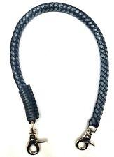 Biker chain braided leather Gray Black Heavy Duty Trucker wallets made in USA