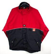 HELLY HANSEN Men Jacket WORKEAR Veidekke Cordura Water Resist Coat Size XL FZ55