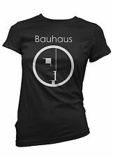 T-SHIRT donna BAUHAUS maglietta 100% cotone cool funny idea regalo moda