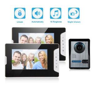 Draht Video Gegensprechanlage Klingel Türsprechanlage mit IP 2 Monitors Kamera