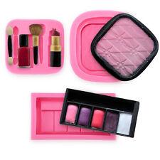 3 x Moule Maquillage silicone pour pâte à sucre gâteau décoration
