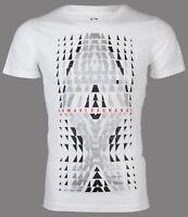 Armani Exchange BIG AX LOGO Mens Designer T-SHIRT Premium WHITE Slim Fit $45 NWT