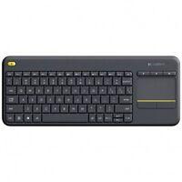 Logitech K400 Plus Clavier sans-fil AZERTY pour PC de Salon, Media center e ...
