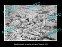 OLD LARGE HISTORIC PHOTO OF DUNDALK LOUTH IRELAND, AERIAL VIEW OF TOWN c1930 4