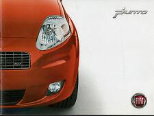 FIAT GRANDE PUNTO 2007-08 UK Mercato Opuscolo Attivo Dinamico eleganza sportiva