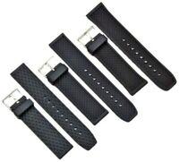 Caoutchouc Montre Bracelet Noir Pour Casio Seiko Citizen 20-24mm de