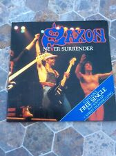 Saxon Never Surrender plus Free Single CAR204 (F) 2 Singles Gatefold