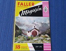 Faller  AMS --  Modellbau Magazin 18 von 1960, kostenloser Inlandsversand