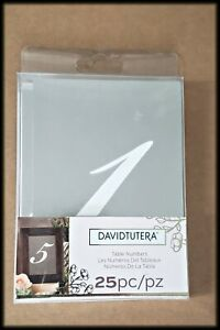 New David Tutera Silver & White Table Numbers Wedding Décor
