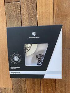 Porsche Factory OEM Wheel Center Cap Authentic  Black/Silver Logo-Set of 4