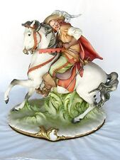 "CAPPE Sculpture Porcelain ""Musketeer on Horseback"" Italy Fine Art Pristine Gift"