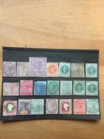 Mixed Collection Of 21 Queen Victoria Stamps Mint & Previously Hinged #QVM21