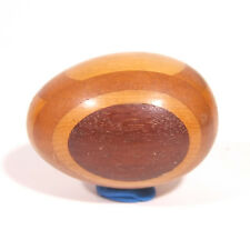 Wood Egg Varied Woods Polished Decorative Collectible