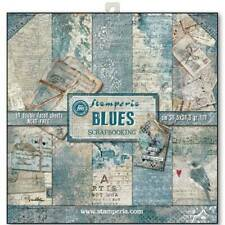 Stamperia Blues 12x12 Inch Paper Pack SBBL26 for Scrapbooking